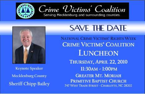 National Crime Victims Coalition Luncheon April 22, 2010