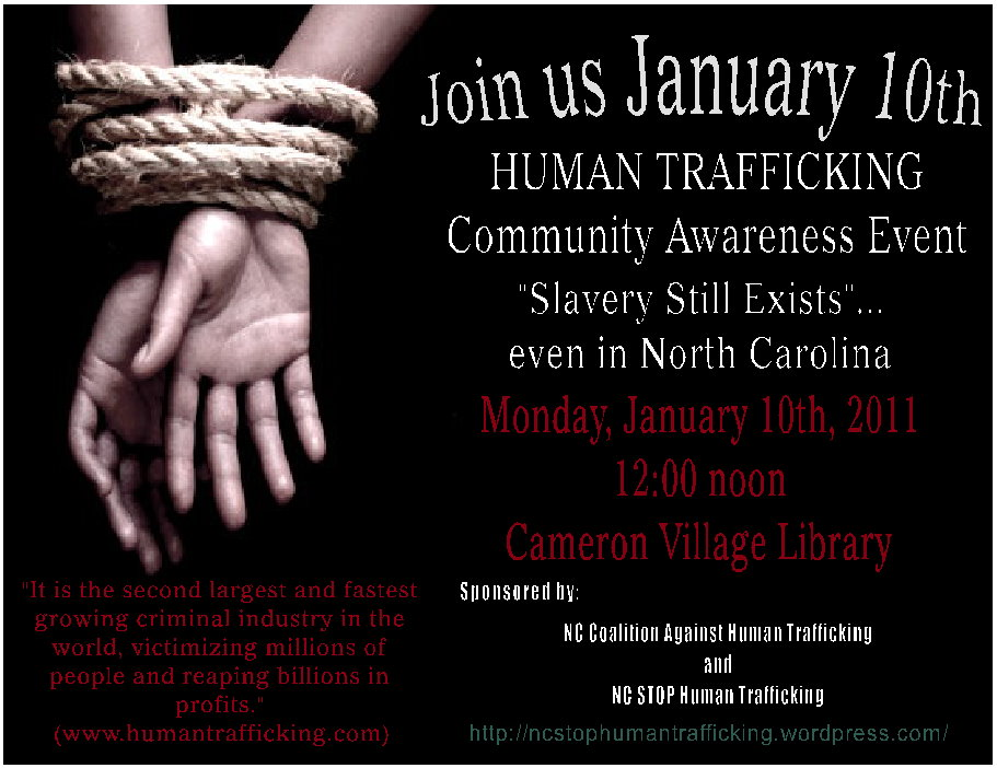 sex slavery and human trafficking Human trafficking, believed to be the third-largest criminal activity in the world, is a form of human slavery which must be addressed at the interagency level.